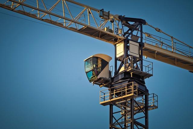 Sky, Crane, Machine, High, Baukran, Crane Operator