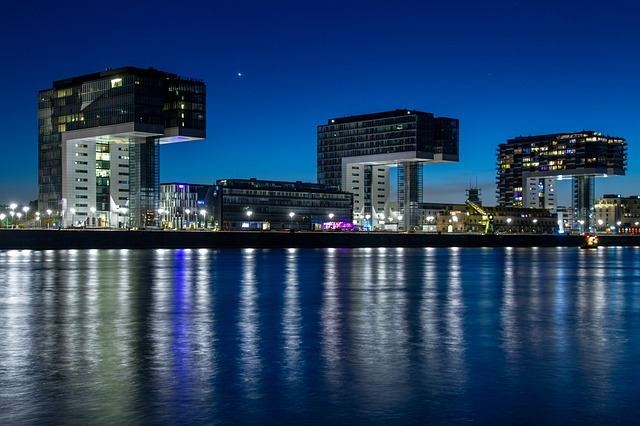Crane Homes, Cologne, Germany, Spectacular, Rhine River