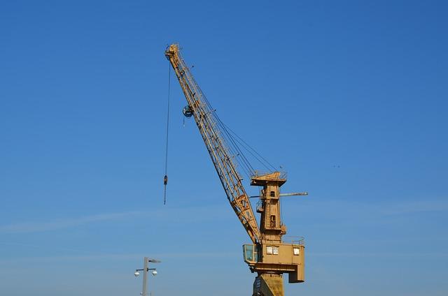 Sky, Industry, Crane, Machine, Heavy, Lift, Equipment