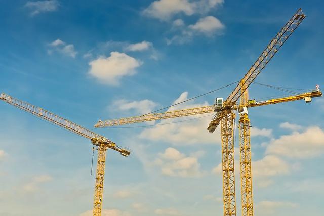 Cranes, Construction, Build, Site, Baukran, Sky