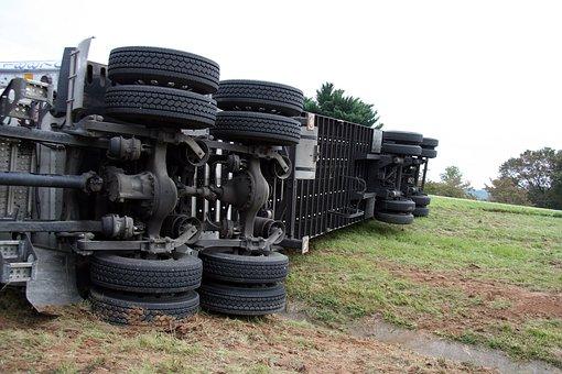 Semi, Accident, Crash, Truck, Dangerous, Semi Truck