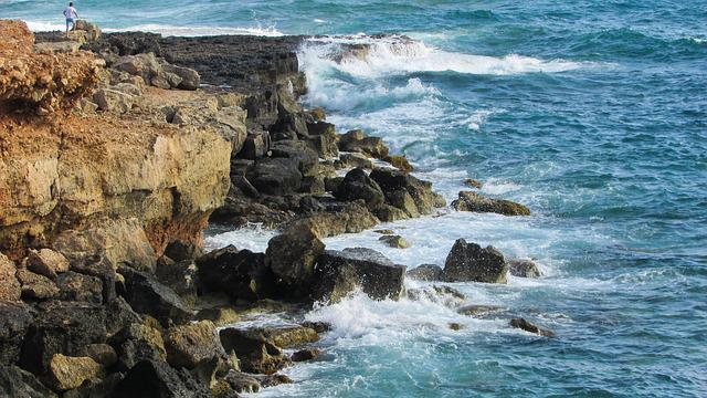 Rocky Coast, Waves, Splashing, Crash, Sea Spray, Rocks
