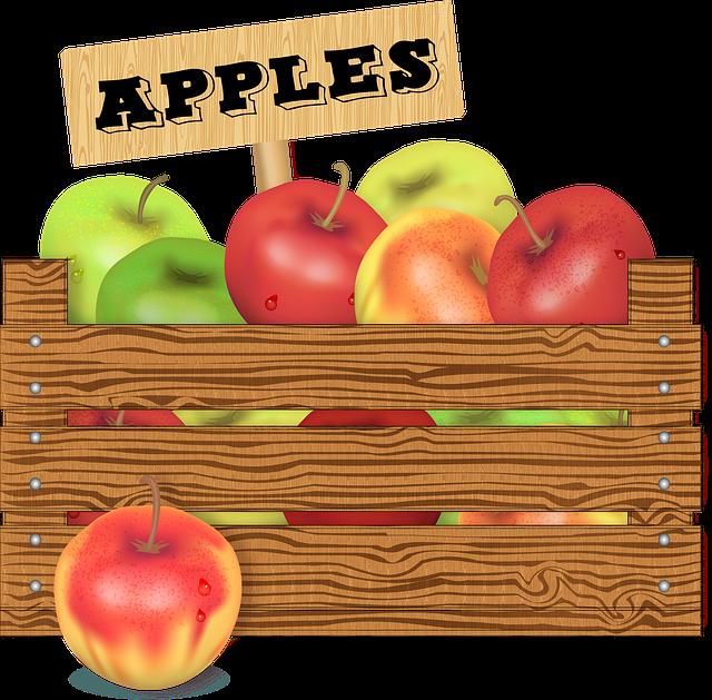 Crate Of Fruit, Wooden Box, Farmer's Market, Seasonal