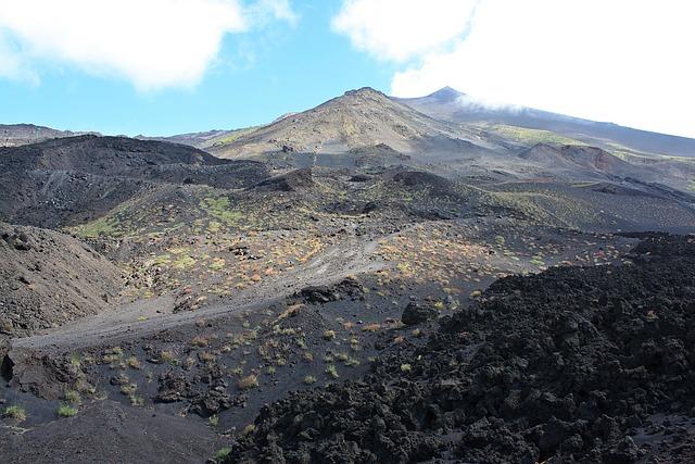 Etna, Volcano, Sicily, Crater, Vegetation Volcanic