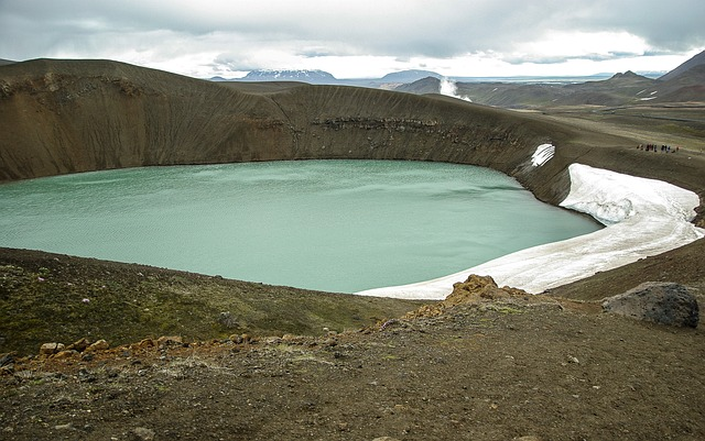 Iceland, Crater, Volcano, Lake