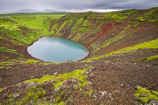 Volcano, Crater, Volcanic Crater, Crater Lake, Kerio