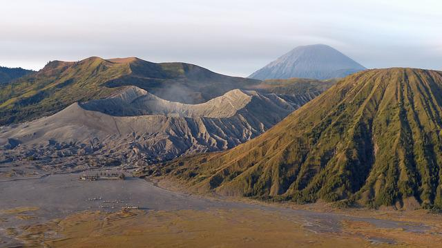 Indonesia, Java, Volcano, Bromo, Crater, Panorama