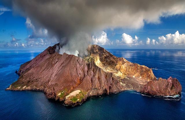 New Zealand, Volcano, Crater, White Island, Island
