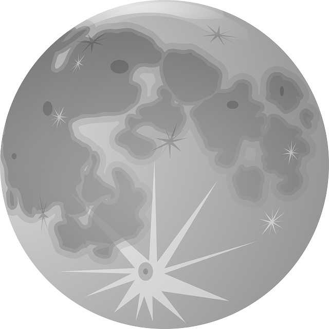 Full Moon, Moon, Lunar, Planet, Gray, Craters