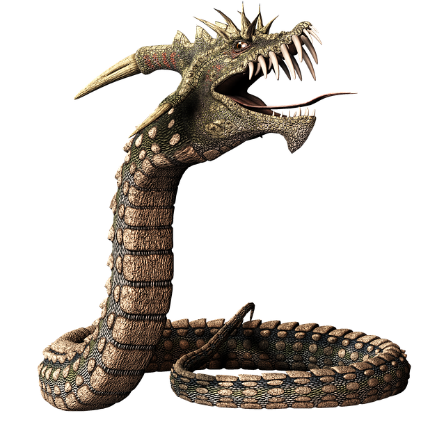 Snake, Dragon, Head, Reptile, 3d, Creature, Legend