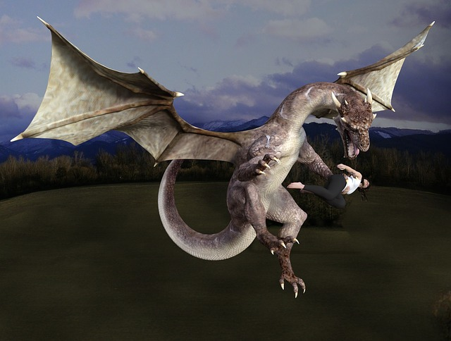 Dragon, Monster, Fantasy, Creature, Wings, Flying