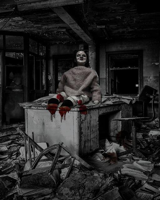 Ghost, Office, Abandoned, Horror, Spooky, Creepy, Desk