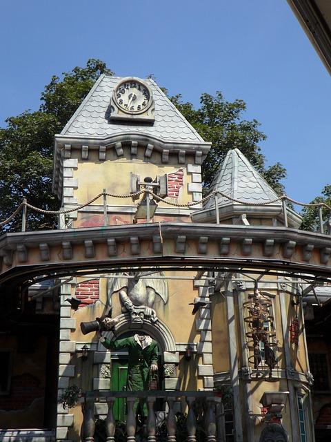 Ghost Train, Creepy, Weird, Haunted House, Year Market
