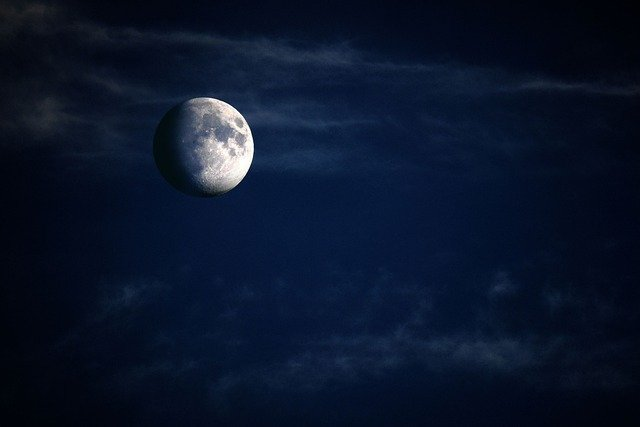 Moon, Night, Plastic, Crescent, Increasingly