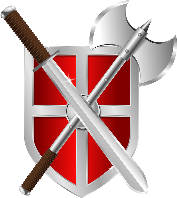 Shield, Axe, Sword, Crest, Armor, Warrior, Symbol