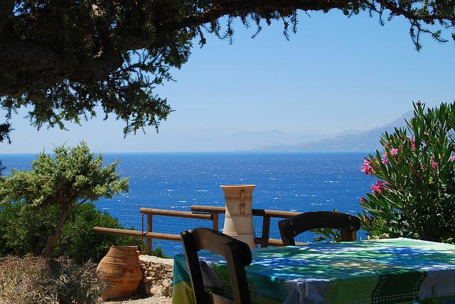 Tavern, Crete, Sea, Holiday, Blue Water, Restaurant