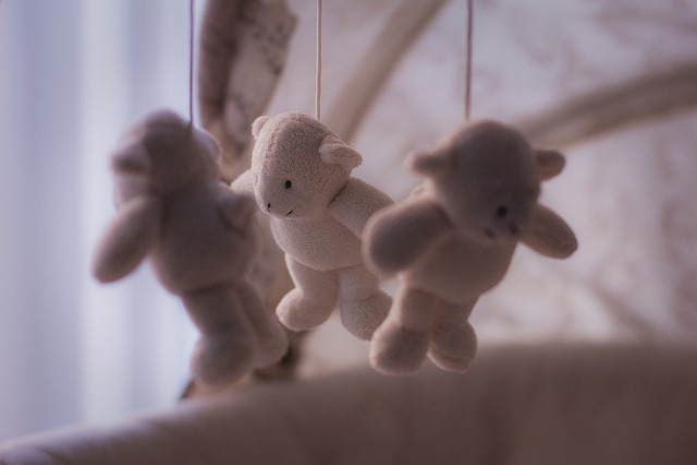 Toys, Bears, Crib, Baby Toy, Cradle