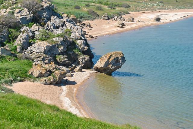 Sea, Sand, Beach, General's Beaches, Crimea