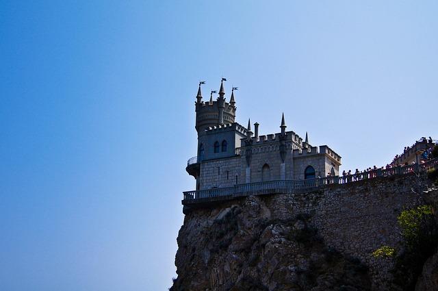 Castle, Swallow's Nest, Crimea, Black Sea