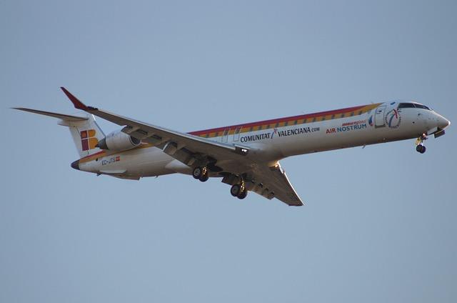 Aviation, Aircraft, Traveling, Crj 900 Regional Iberia