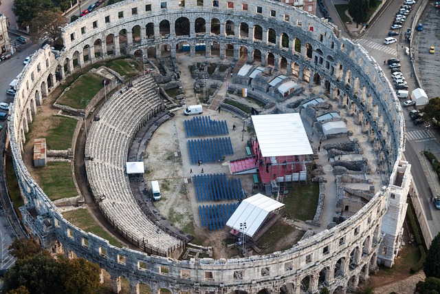 Amphitheater, Pula, Croatia, Arena