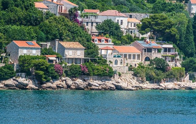 Croatia, Dubronvik, Coastline, Architecture, Homes