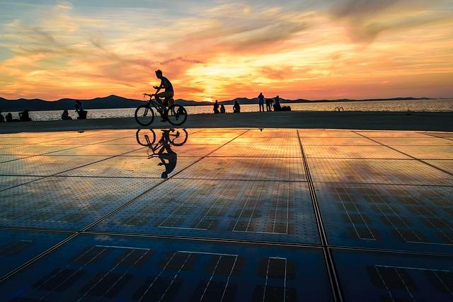 Zadar, Croatia, Sea Organ, Sunset, Adriatic Sea, Cycle