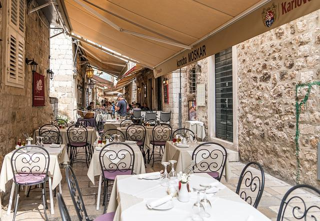 Croatia, Dubrovnik, Restaurant, Ancient, Stone, Europe