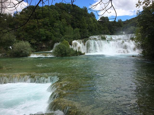 Waterfall, Croatia, Lakes, Nature, Water, River