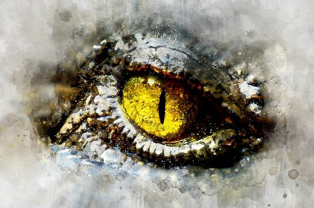 Alien, Crocodile, Eye, Reptilian, Animal, Monster