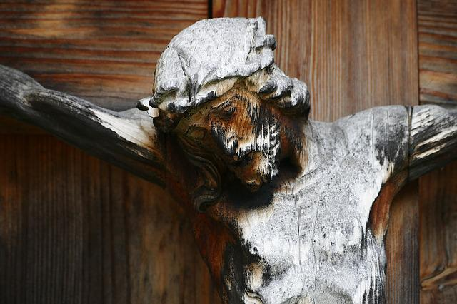 Crucifix, Cross, Wayside Cross, Carved, Wooden Cross