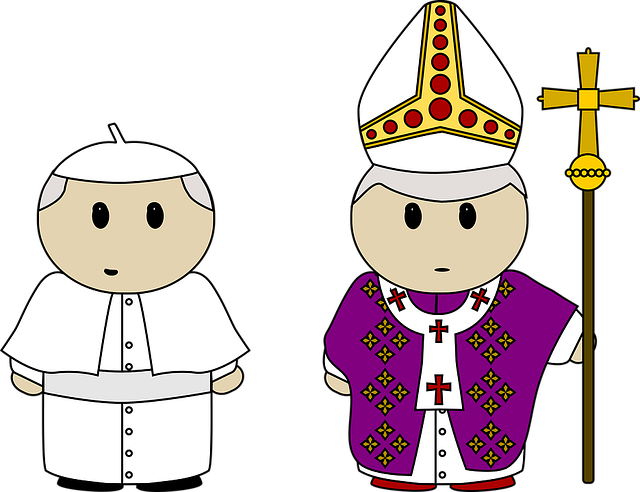 Benedict, Cartoon, Catholic, Church, Clothes, Cross