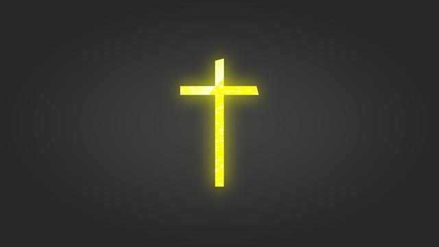 Cross, Yellow, Christian, Church, Religion, Jesus