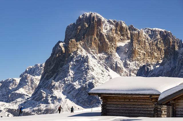 Seiser Alm, Cross Country Skiing, Winter, Dolomites