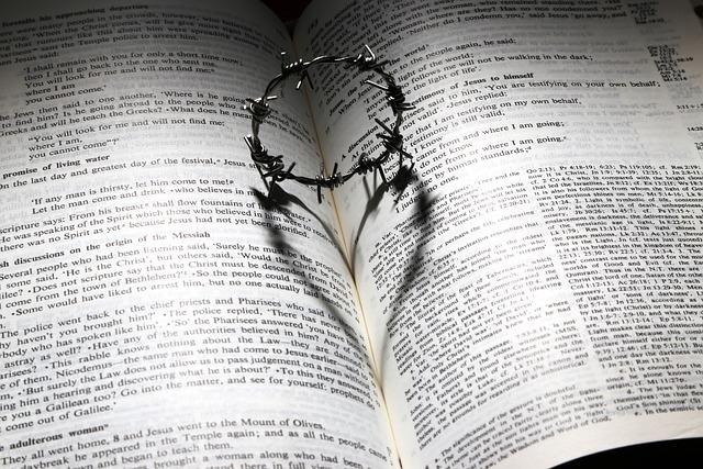 Love, Died, Cross, Thorns, Crown, Heart, Bible, Shadow