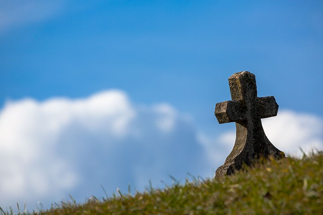 Grave, Sky, Cross, Old, Stone, Heaven, Christian