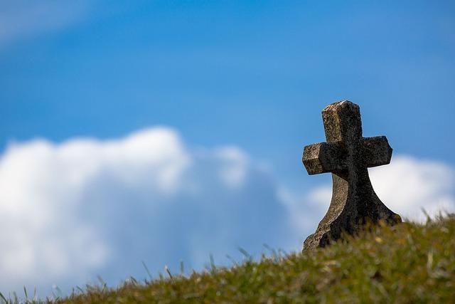 Grave, Sky, Cross, Old, Stone, Heaven, Christian