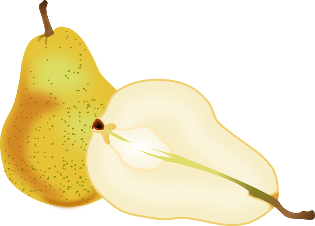 Pears, Fruit, Slice, Cross Section, Food, Fresh