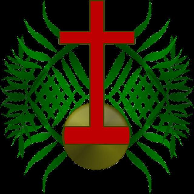 Palm, Sunday, Logo, Cross, Church, Christ, Christian