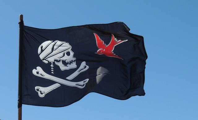 Pirate, Flag, Skull, Black, Crossbones, Jolly, Roger