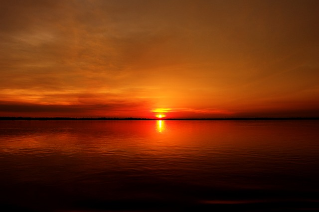 Sunset, River, Amazon, Crossing, Holiday, Nature, Calm