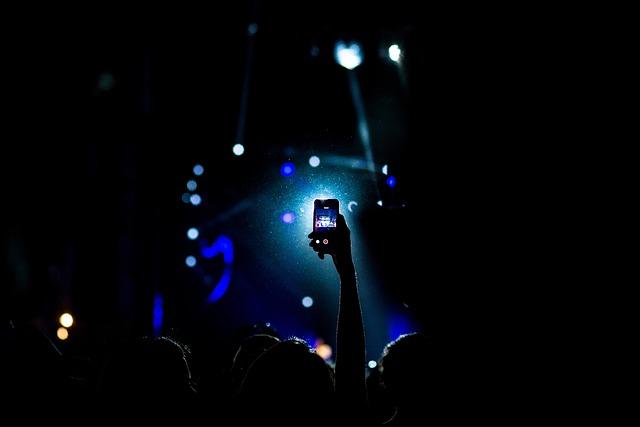 Concert, Crowd, Dark, People, Silhouette, Smartphone
