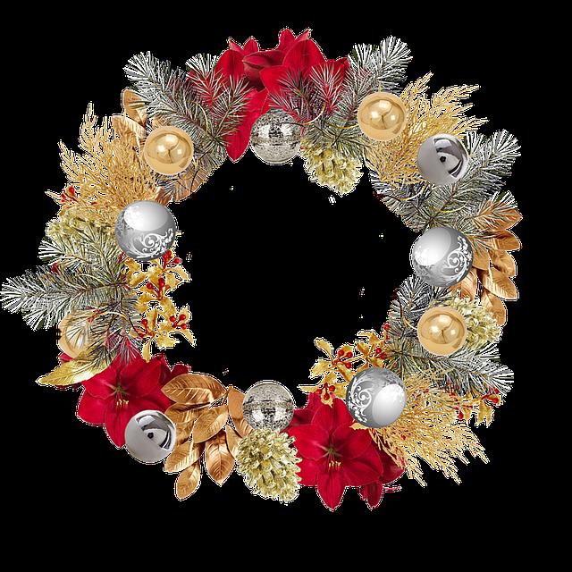 Christmas, Crown, Bowls, Doré, Money, Red Amaryllis