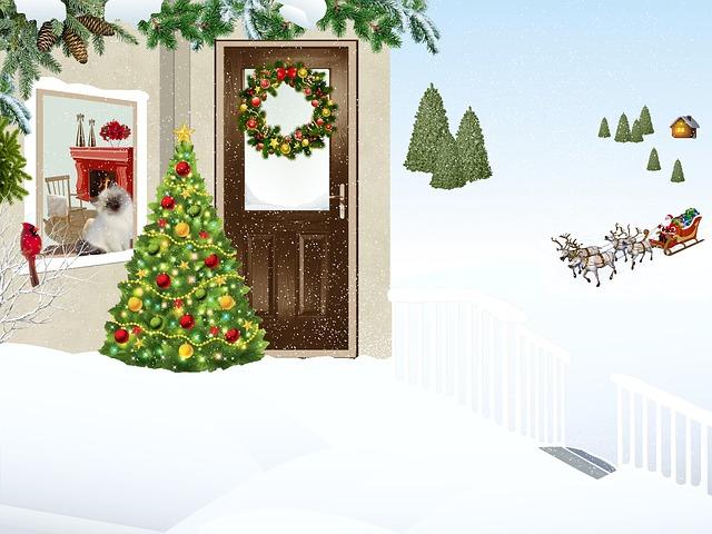 House, Mountain, Snow, Landscape, Crown, Christmas, Fir