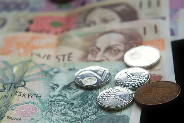 Money, Czech, Banknotes, Coins, Crown, Currency