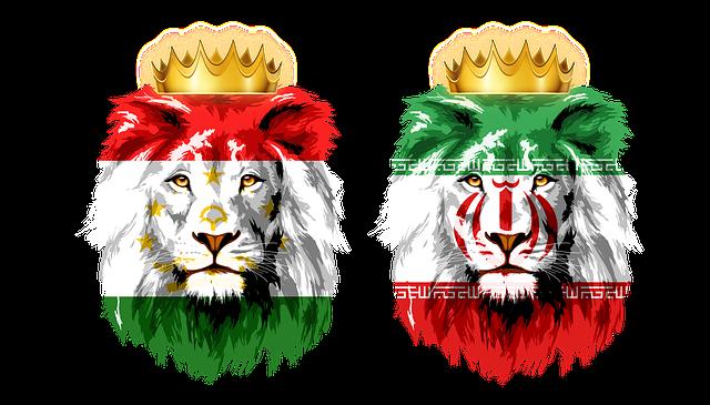 Lion, King, Crown, Flag, Iran