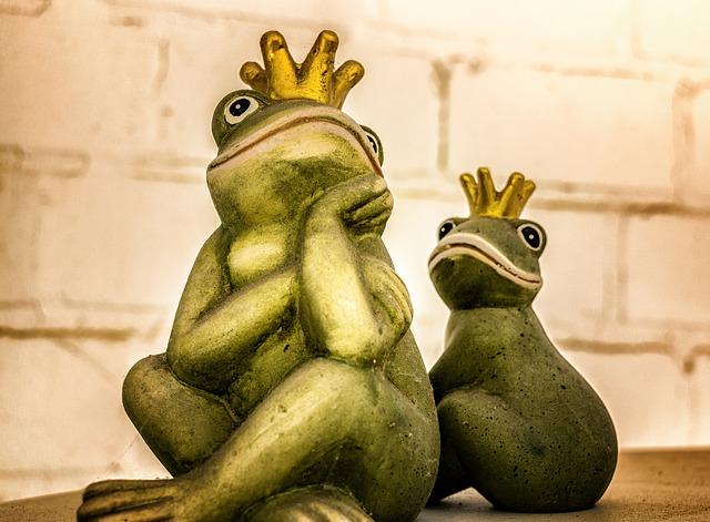 Frog, King, Figure, Crown, Frog Prince, Fairy Tale