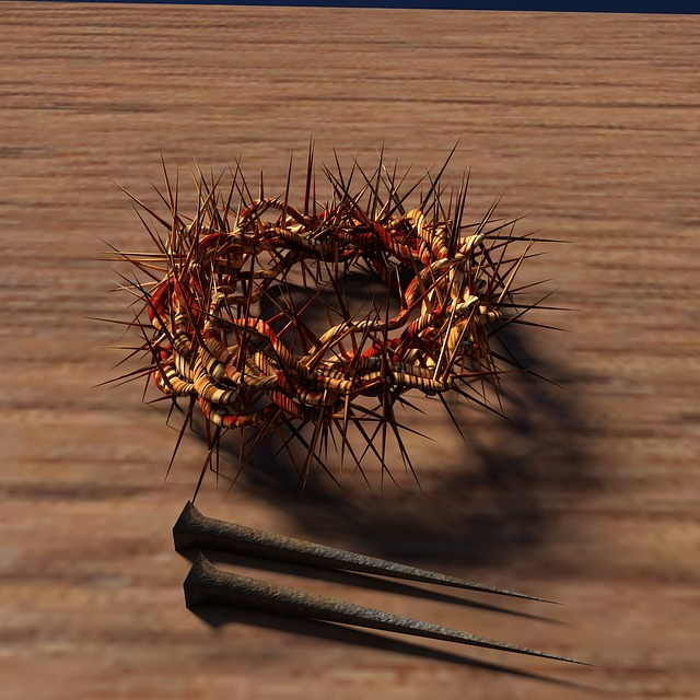 Nail, Crown Of Thorns, Wood, Jesus, Christianity
