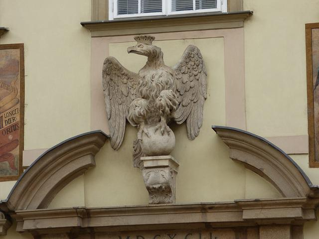 Eagle, Sculpture, Crown, Decorating, Emboss