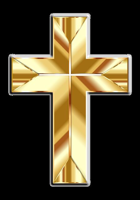 Jesus, Christ, Cross, Crucifix, Gold, Shiny, Metallic